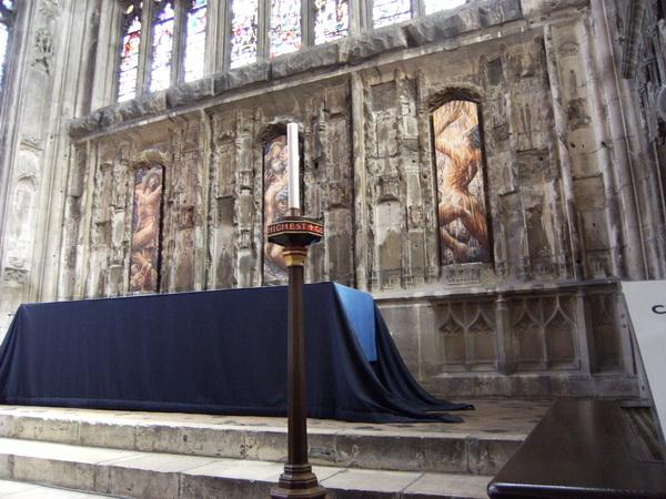 Wandbilder in der Lady Chapel