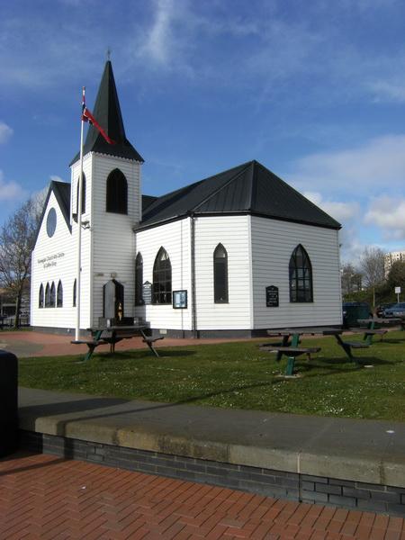 Die norwegische Kirche (Kunstzentrum, früher norwegische Seemannskirche)