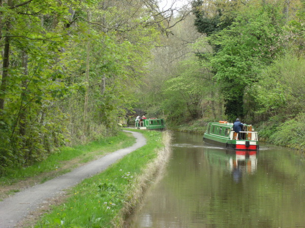 Canal Boat auf dem Brecon-Monmouth-Canal