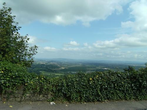 Blick von den Malvern Hills auf die Midlands