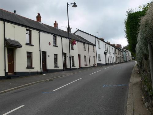 Reihenhäuser in der Upper Waun Street