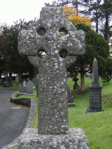 Keltisches Kreuz auf dem Friedhof von Lampeter