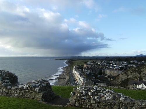 Aussicht von Criccieth Castle