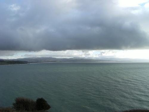 Aussicht von Criccieth Castle über die Cardigan Bay