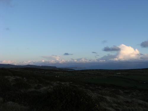 Beardsey Island im Sonnenuntergang
