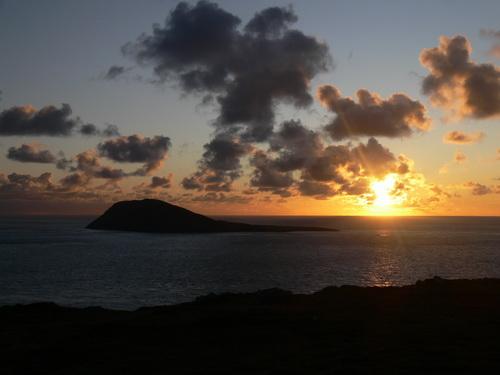 Sonnenuntergang in der Irischen See
