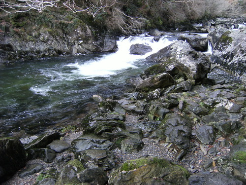 Fishermans Walk am River Glaslyn