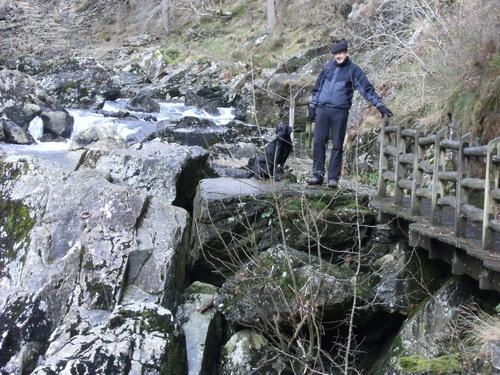 Fishermans Walk am River Glaslyn