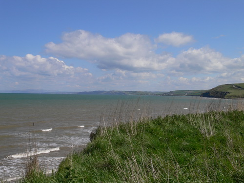 Am Strand bei Aberaeron