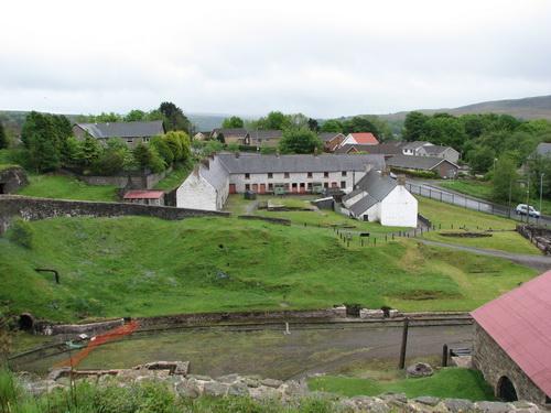 Wohnhäuser bei den Blaenavon Iron Works