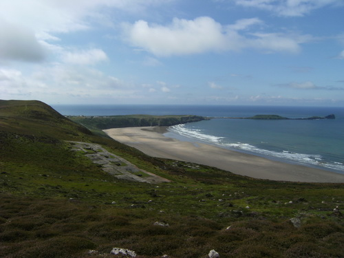 Rhossili Beach und Worms Head