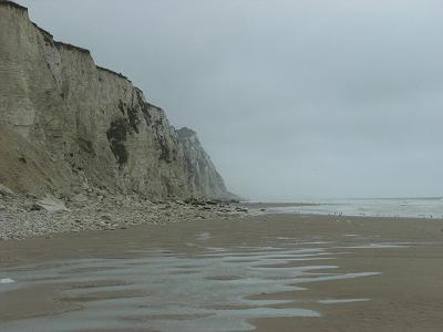 Strand und Steilküste bei Sangatte