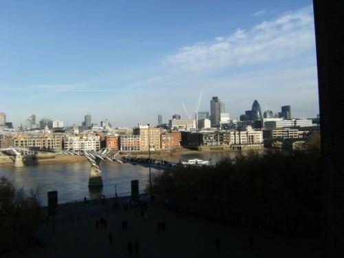 Blick von der Terrasse der Tate Modern