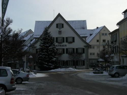 Rathaus mit Weihnachtsbaum