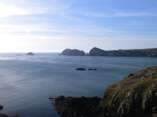 Meerenge zwischen Ramsey Island und der Halbinsel