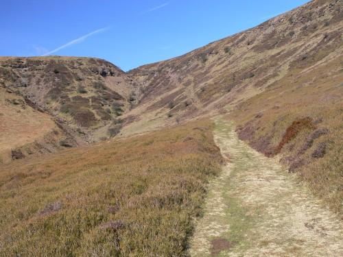 Weg vom Olchon Valley auf den Darren