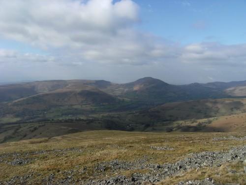 Blick in Richtung Mynydd Troedd