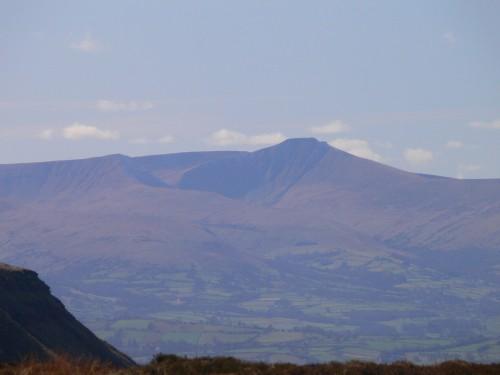 Blick zum Pen y Fan, dem höchsten Berg Süd-Wales