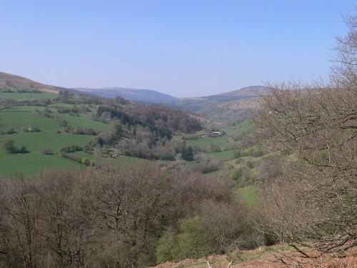 Blick über das Grywne Fawr Valley