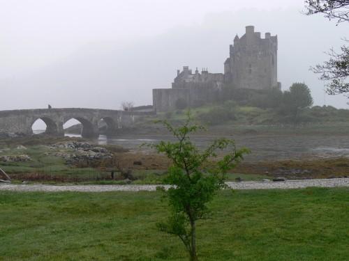 Castle Eilean Donan im Regen