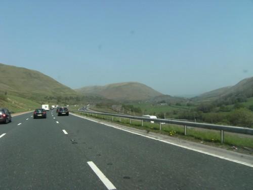 Auf der Autobahn durch Cumbria