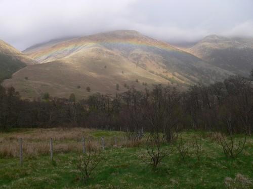 Regenbogen im Glen Nevis