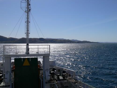 Das schottische Festland im Gegenlicht
