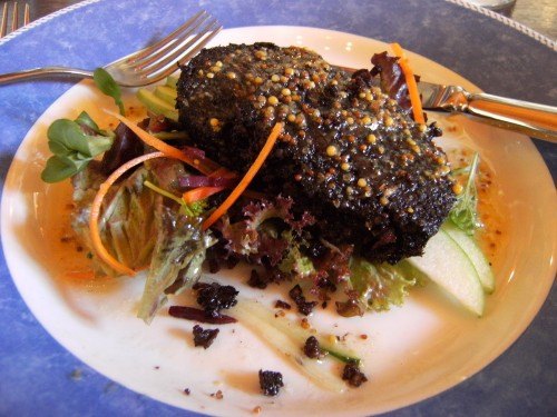 Macleod's of Stornoway Black Pudding served on Apple Salad
