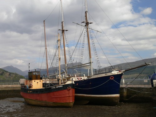 Im Hafen von Inveraray