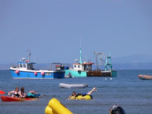 Fischerboote vor New Quay