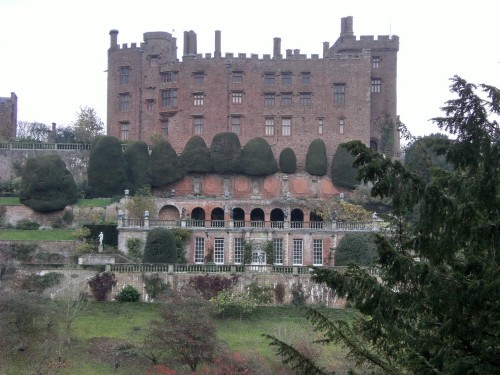 Powis Castle and the Orangerie just below the house